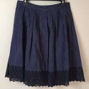 Banana Republic Women's Pin Striped & Lace Skirt